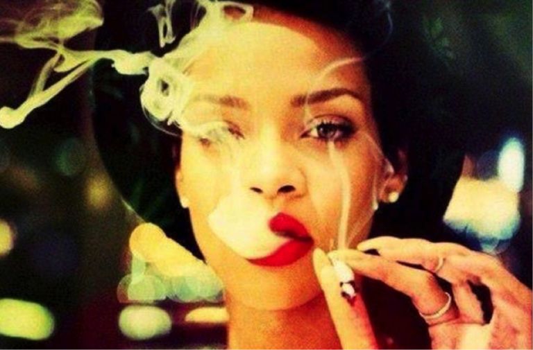 Rihanna Smoking Weed