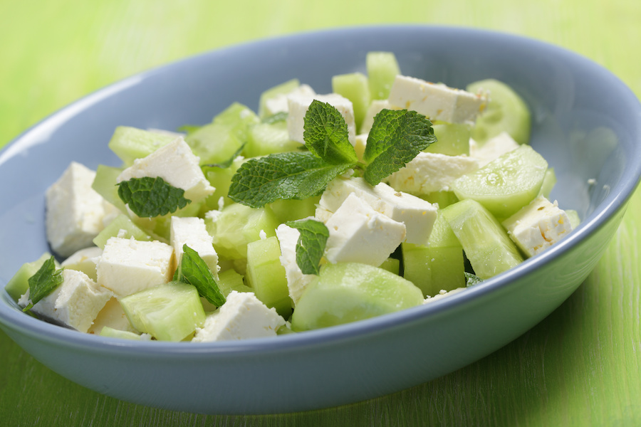 Feta and cucumber salad