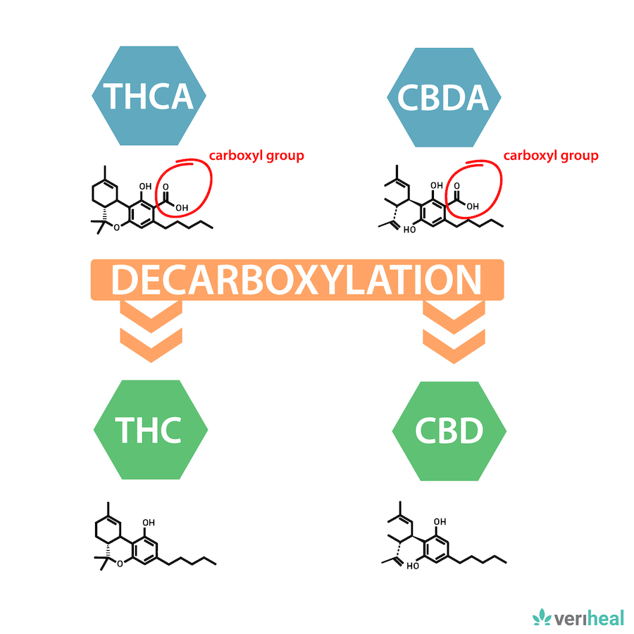 decarboxylation molecule examples | Veriheal