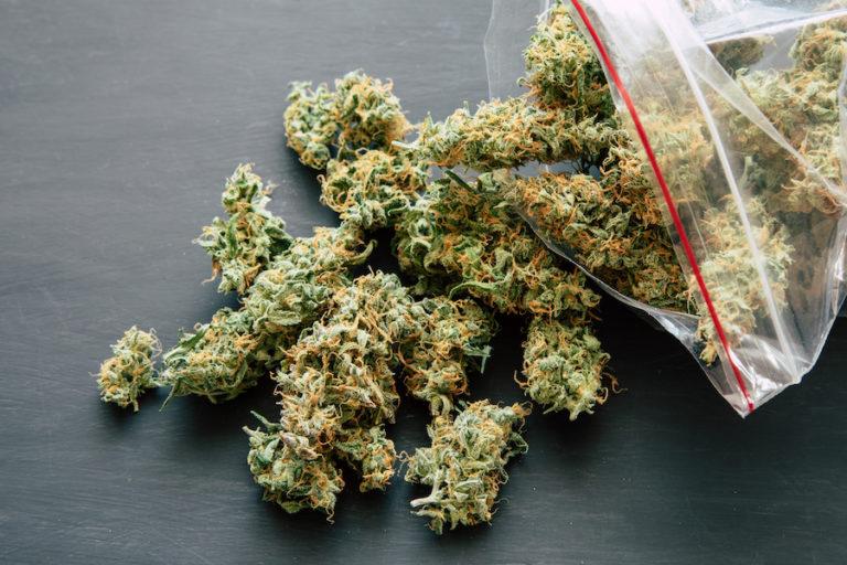 weed in a ziploc