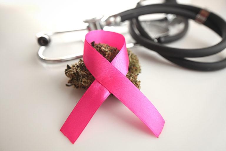 breast cancer ribbon nug