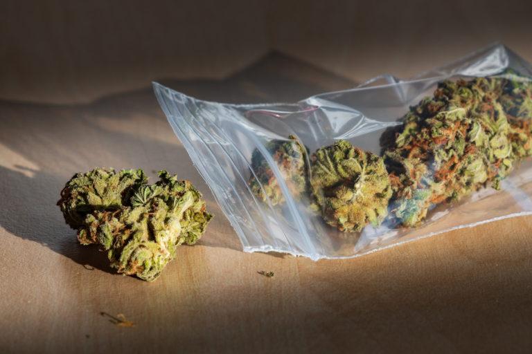 Marijuana in plastic bag