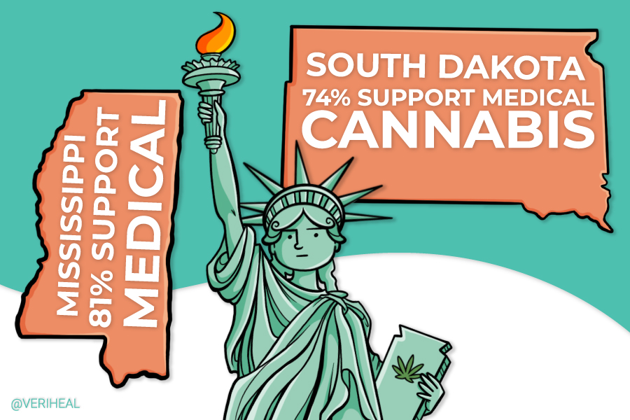 Medical Cannabis Likely Coming to South Dakota, Mississippi, Polling Shows